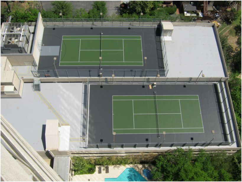 sport court roof top tennis