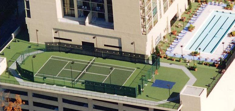 outdoor roof court
