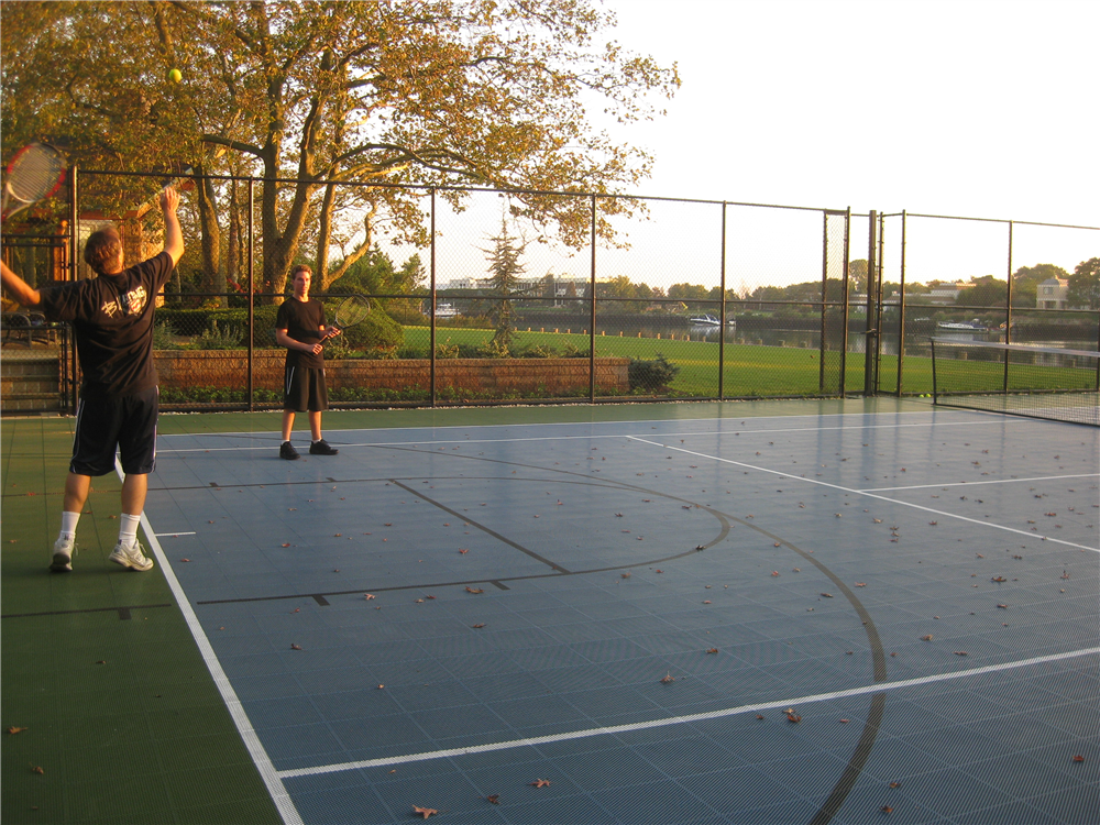 A beautiful night out on the new court